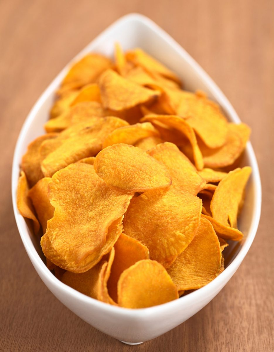 Honey-Glazed Potato Chips